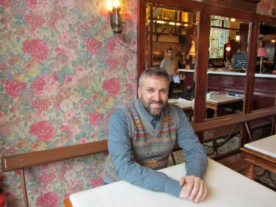 Nikolas Koufonikola of Café Avissinia, photo by Diana Farr Louis