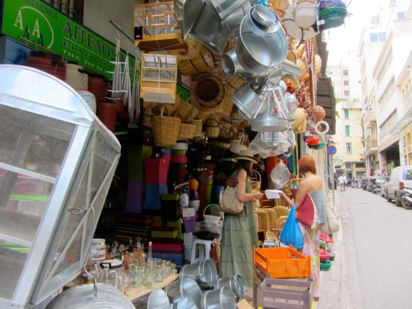 Shop selling kitchenware, photo by Diana Farr Louis