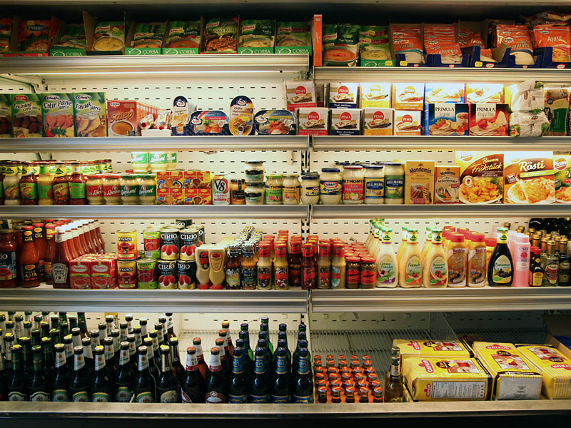 Deli display at Benito's Delicatessen in Phaleron, photo by Manteau Stam