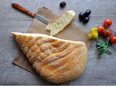 Lagana bread, photo by Lucia Pescaru/Shutterstock.com