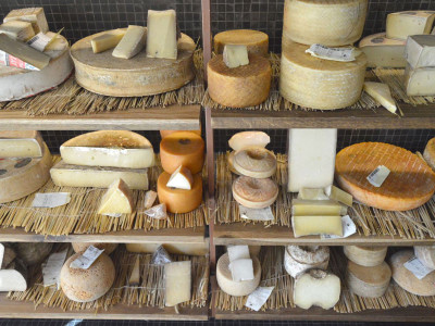 A small part of Poncelet's cheese selection, photo by Paula Mourenza