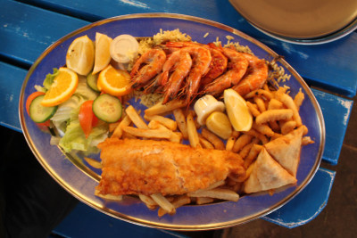Kalky's seafood platter, photo by Athena Lamberis