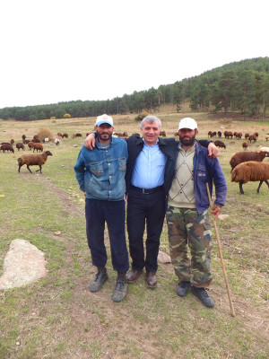 Yıldırım with his two shepherds in the meadows above Kosor, photo by Roxanne Darrow