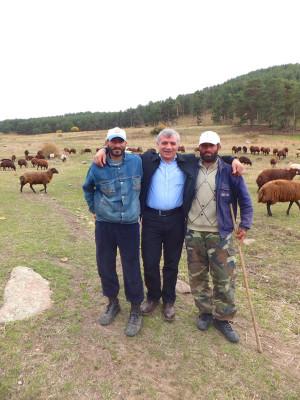 Yıldırım with his two shepherds in the meadows above Kosor, photo by Roxanne Darrow