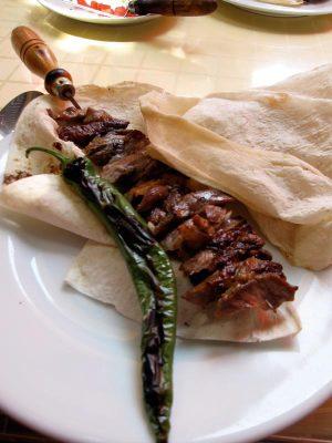 Şehzade Erzurum Cağ Kebabı's signature lamb kebab, photo by Ansel Mullins