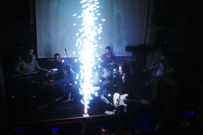 A band playing at Pikap, photo by Ayman Oghanna