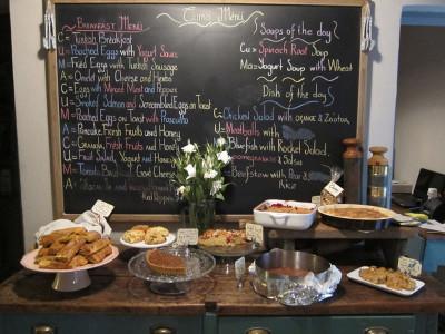 Cuma's menu, photo by Ansel Mullins