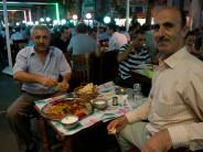 Two men enjoy iftar in Fatih, photo by Fumie Suzuki