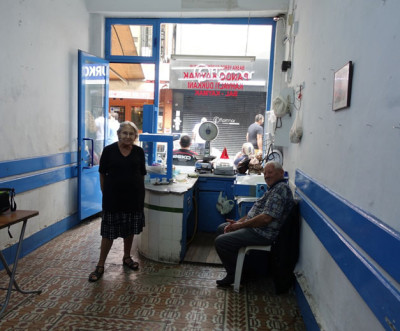 Pando and his wife, Yuanna, in their kaymak shop's final days, photo by Ansel Mullins