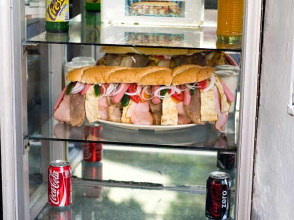 Gladiador sandwich at Cafetería El Cuadrilátero, photo by Ben Herrera