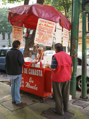 Tacos de Canasta La Abuela, photo by PJ Rountree