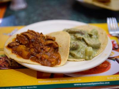 Tacos de guisados at El Jarocho, photo by PJ Rountree