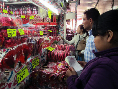 A candy stall at Mercado de la Merced, photo by James Young