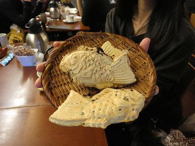 Taiyaki at Naniwa Café, photo by Fran Kuzui